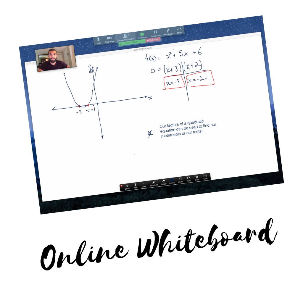 Online tutoring whiteboard