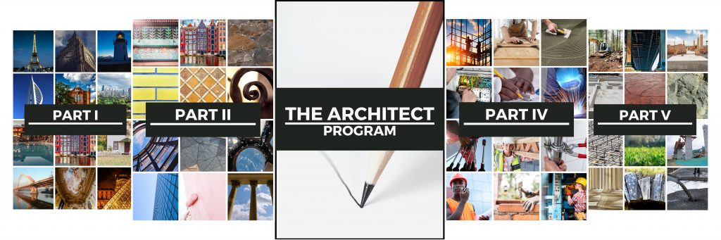 The Architect Program covers five major parts to design our life. Including our Careers!